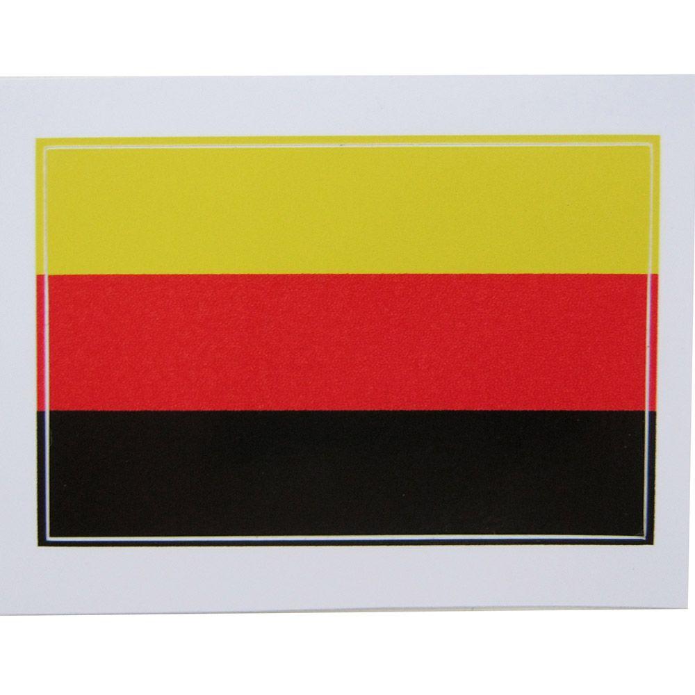Adesivo modelo bandeira da Alemanha  - Bunnitu Peças e Acessórios
