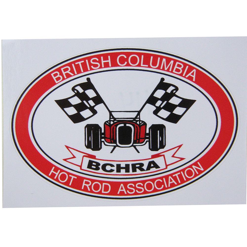 Adesivo modelo BCHRA British Columbia Hot Rod Association  - Bunnitu Peças e Acessórios