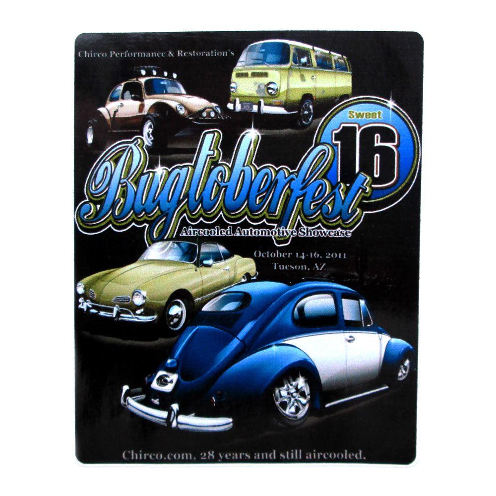 Adesivo modelo - Bugtoberfest Aircooled Automotive Showcase  - Bunnitu Peças e Acessórios