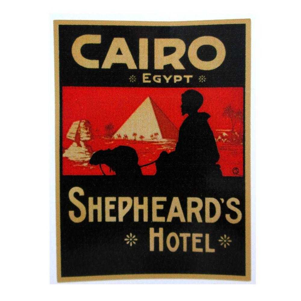 Adesivo modelo - Cairo Egypt - Shepheard´s Hotel  - Bunnitu Peças e Acessórios
