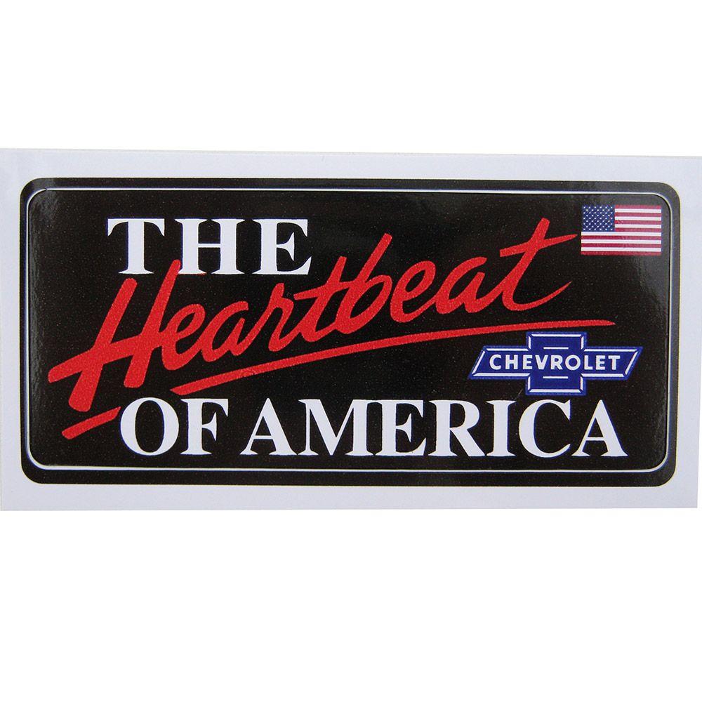 Adesivo modelo Chevrolet The Heartbeat of America  - Bunnitu Peças e Acessórios