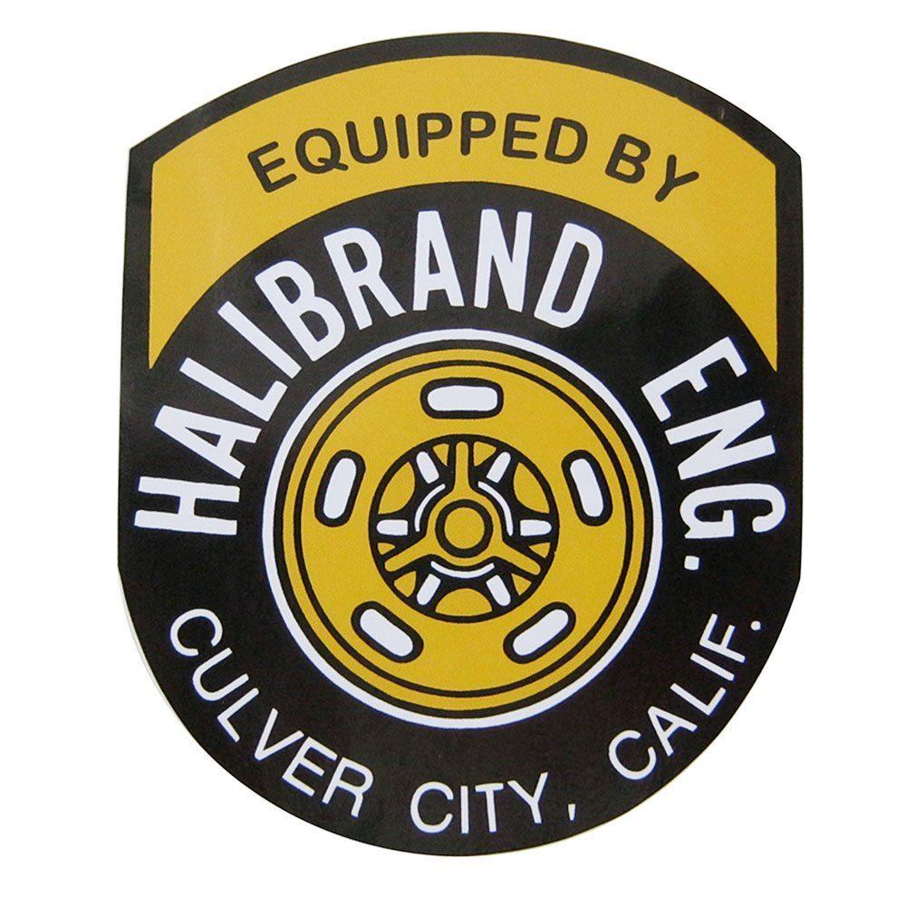 Adesivo modelo Equipped By Halibrand Eng. Culver City, California  - Bunnitu Peças e Acessórios