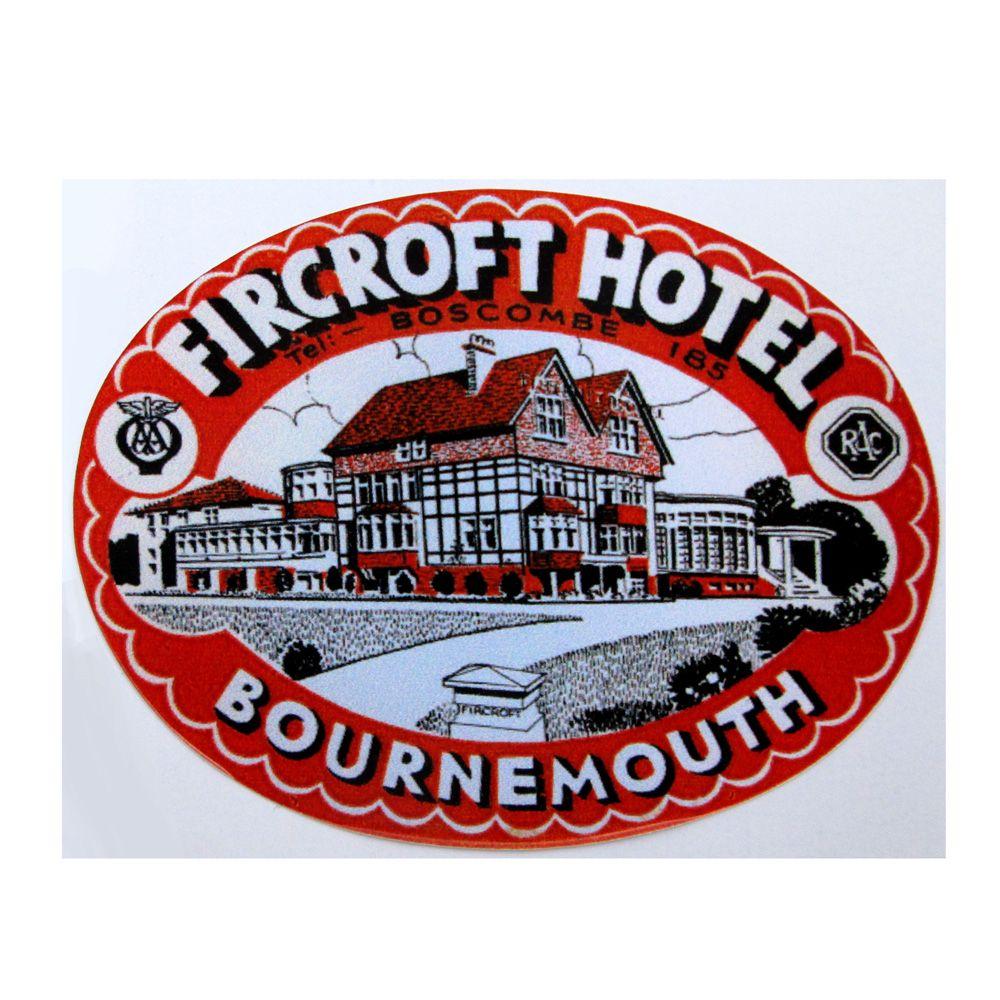Adesivo modelo - Fircroft Hotel - Bournemouth  - Bunnitu Peças e Acessórios