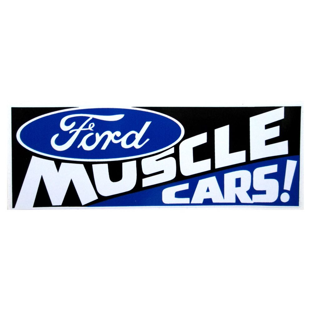 Adesivo modelo - Ford Muscle Cars !  - Bunnitu Peças e Acessórios