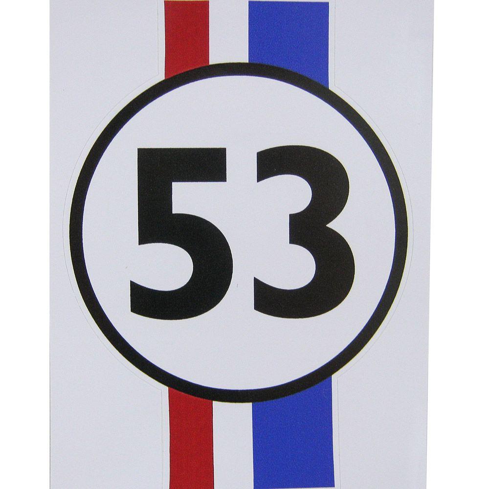 Adesivo modelo Fusca Herbie 53  - Bunnitu Peças e Acessórios