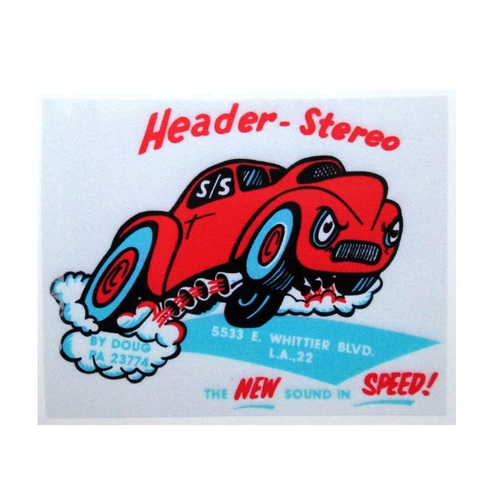 Adesivo modelo - Header-Stereo - The new sound in Speed !  - Bunnitu Peças e Acessórios