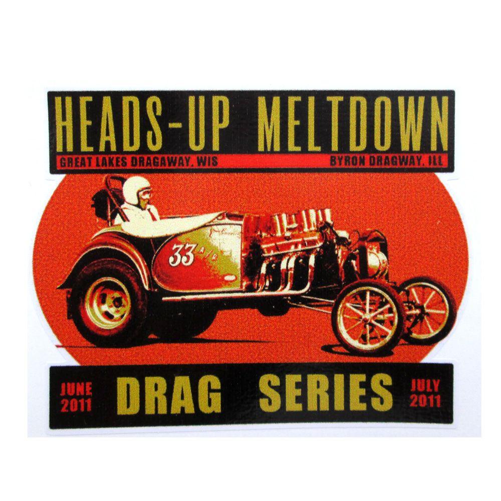 Adesivo modelo - Heads-Up Meltdown Dragon Series  - Bunnitu Peças e Acessórios