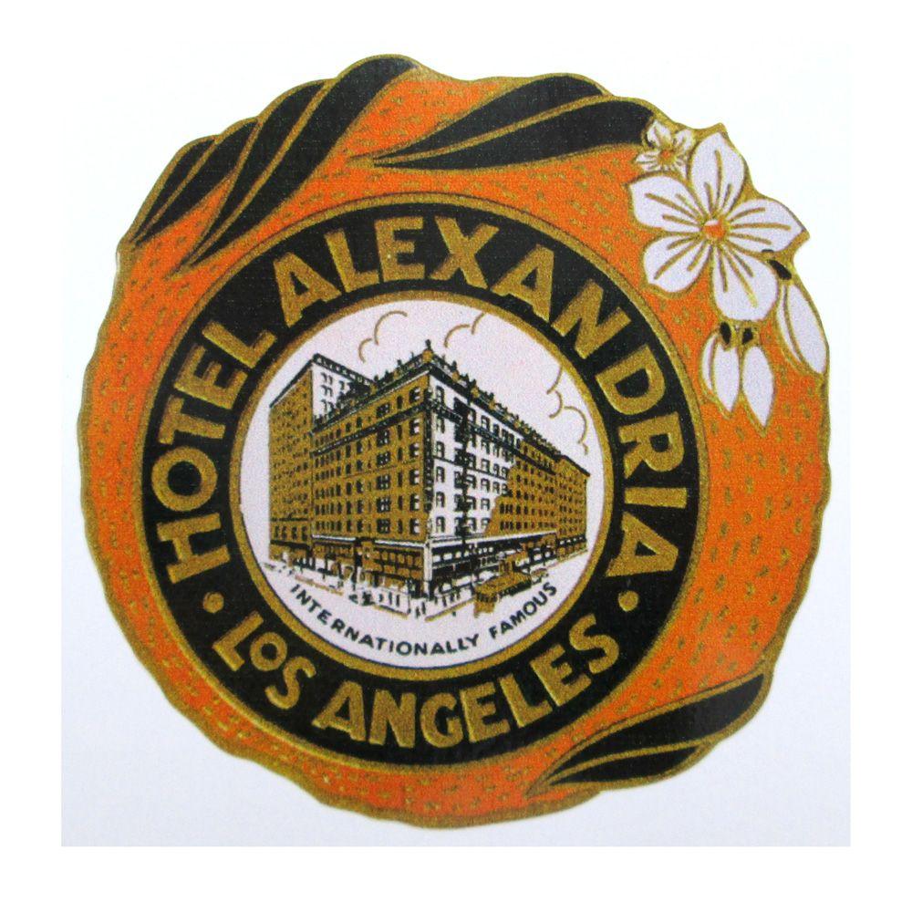 Adesivo modelo - Hotel Alexandria - Los Angeles  - Bunnitu Peças e Acessórios
