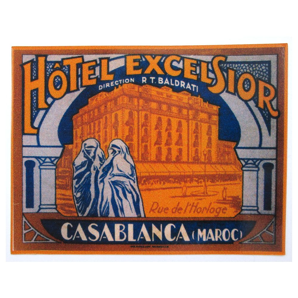 Adesivo modelo - Hôtel Excelsior - Casa Blanca  - Bunnitu Peças e Acessórios