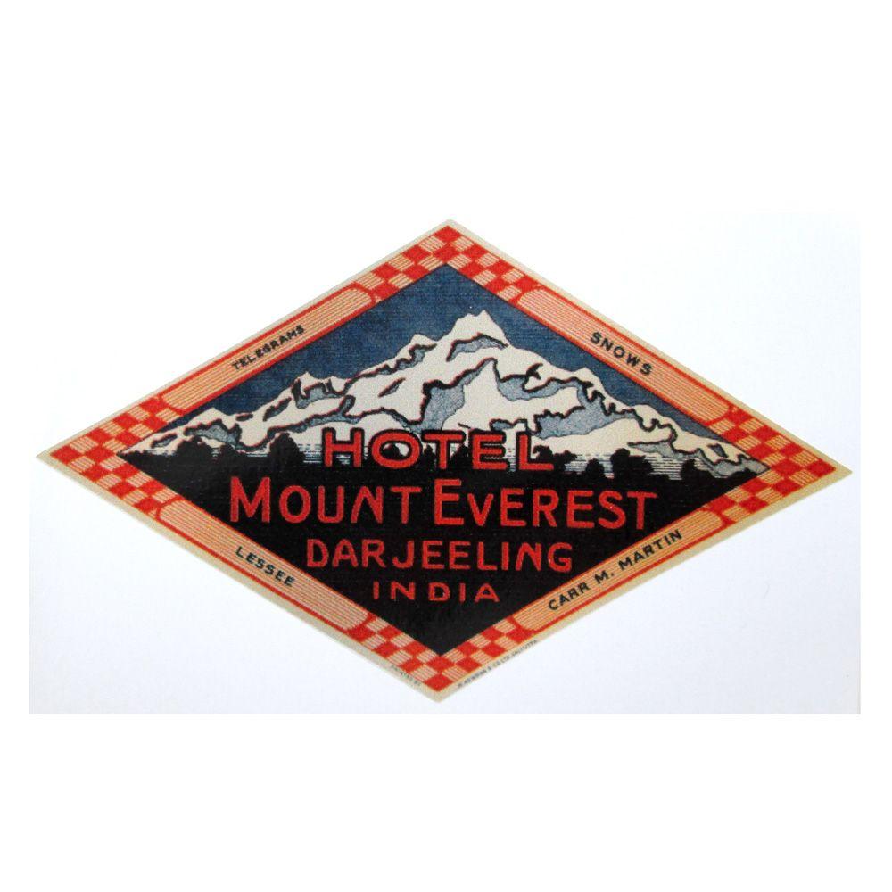 Adesivo modelo - Hotel Mount Everest - Darjeeling India  - Bunnitu Peças e Acessórios