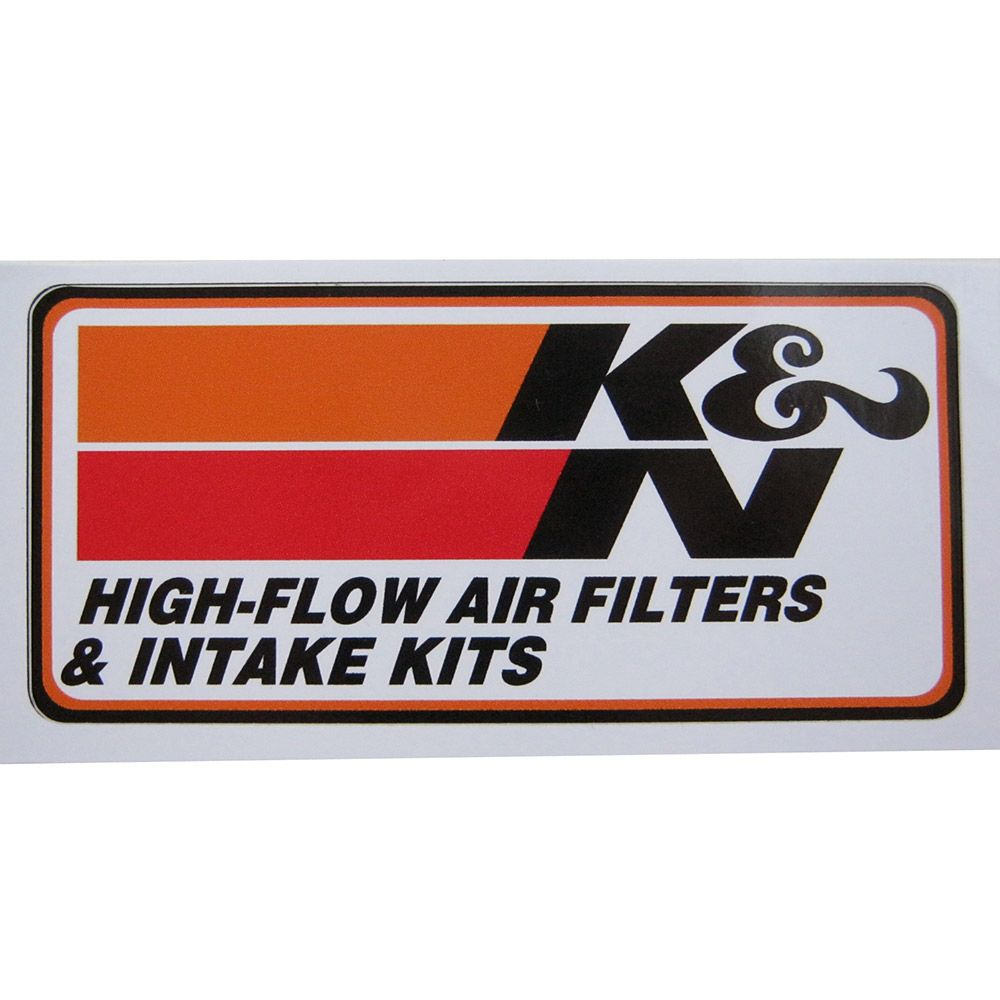 Adesivo modelo K & N High-Flow Air Filters & Intake Kits  - Bunnitu Peças e Acessórios