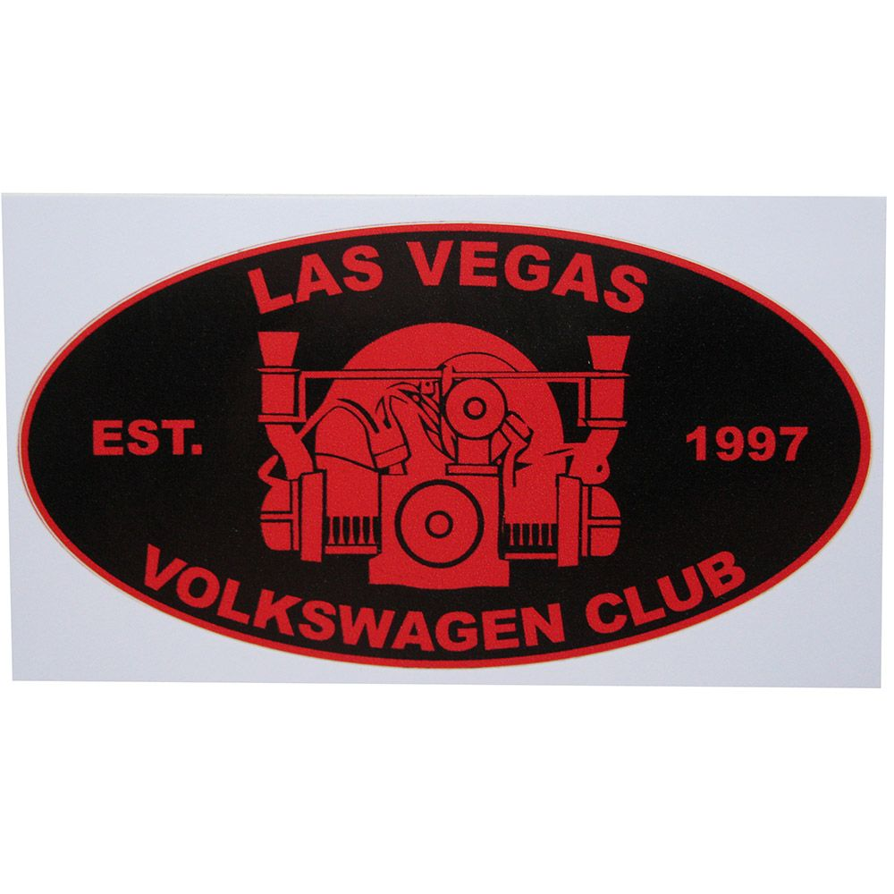 Adesivo modelo Las Vegas Volkswagen Club  - Bunnitu Peças e Acessórios