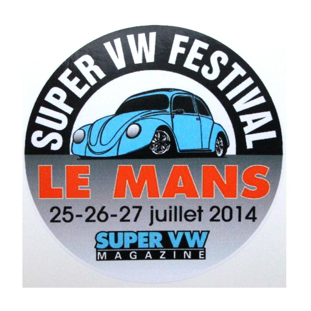 Adesivo modelo - Le Mans Super VW Festival  - Bunnitu Peças e Acessórios
