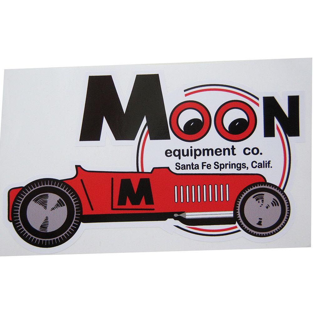 Adesivo modelo Moon Equipment CO. Santa Fé Springs, Calif.  - Bunnitu Peças e Acessórios