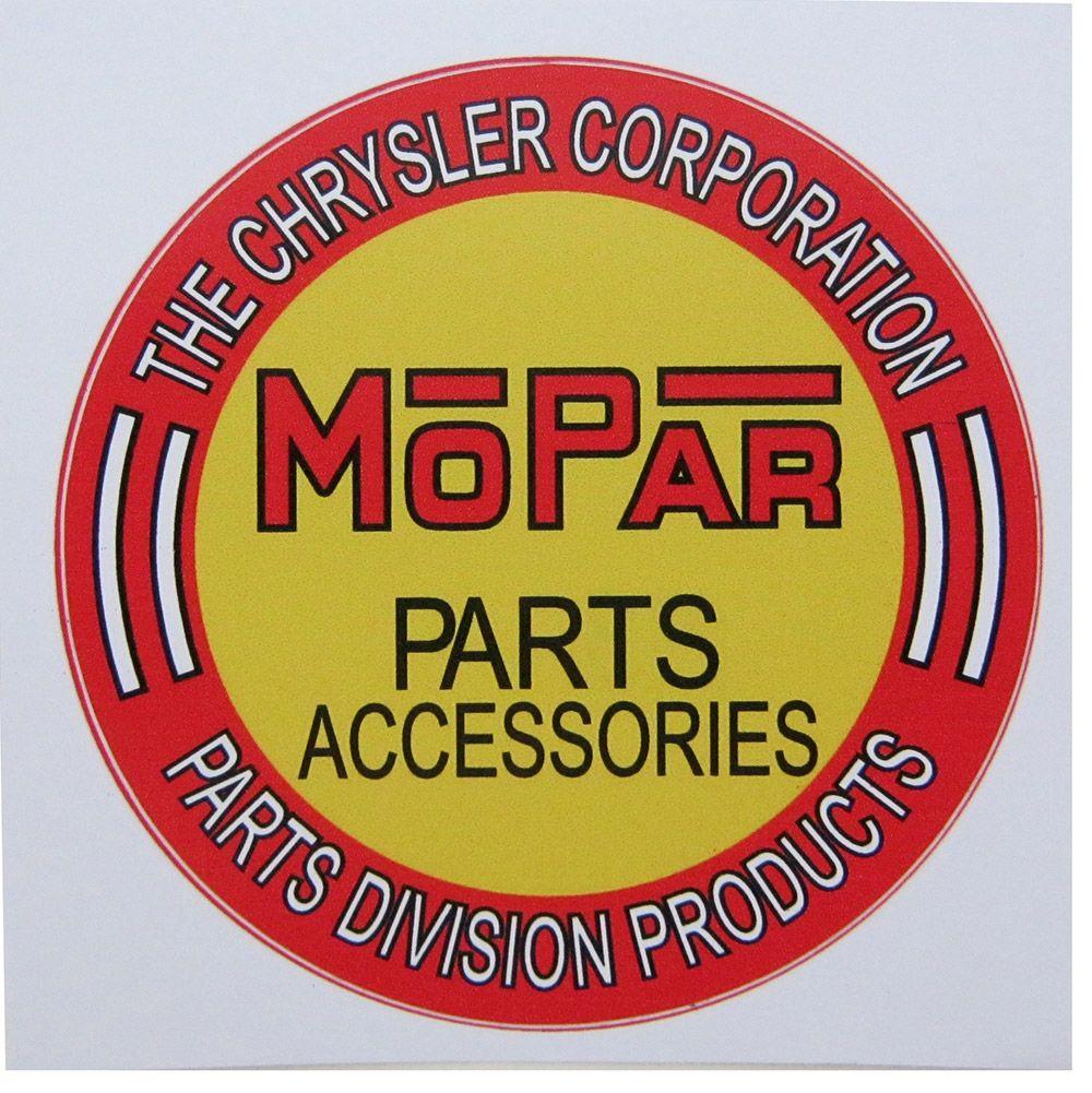 Adesivo modelo Mopar Parts Accessories  - Bunnitu Peças e Acessórios