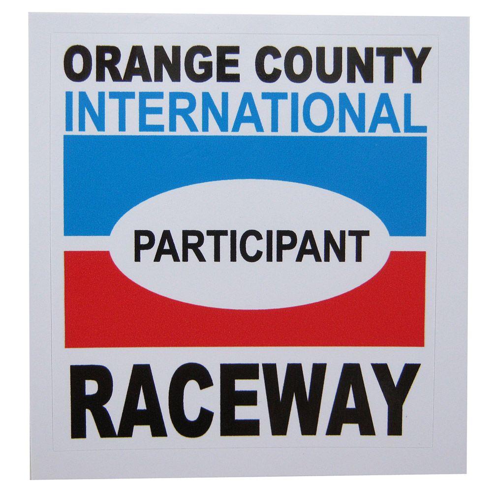 Adesivo modelo Participant Orange County International RaceWay  - Bunnitu Peças e Acessórios