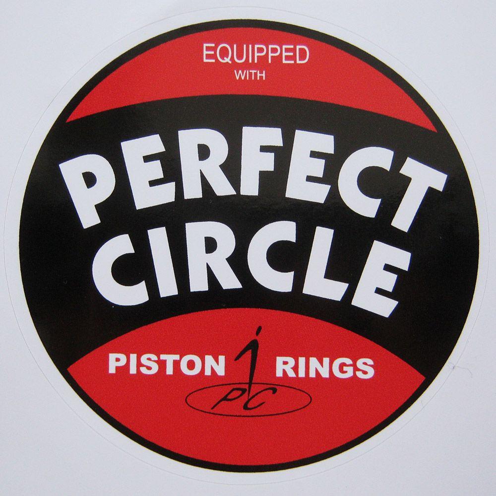 Adesivo modelo Perfect Circle Equipped With Piston Rings  - Bunnitu Peças e Acessórios