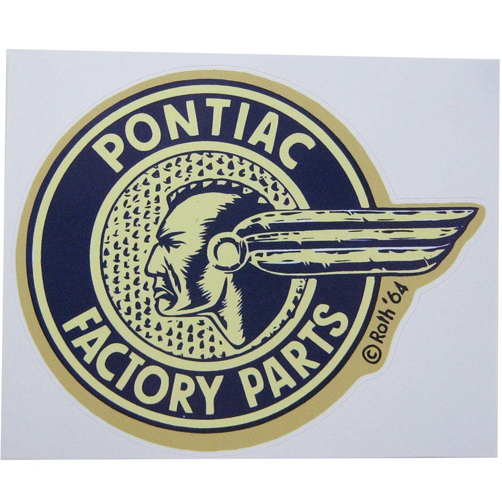 Adesivo modelo Pontiac Factory Parts  - Bunnitu Peças e Acessórios