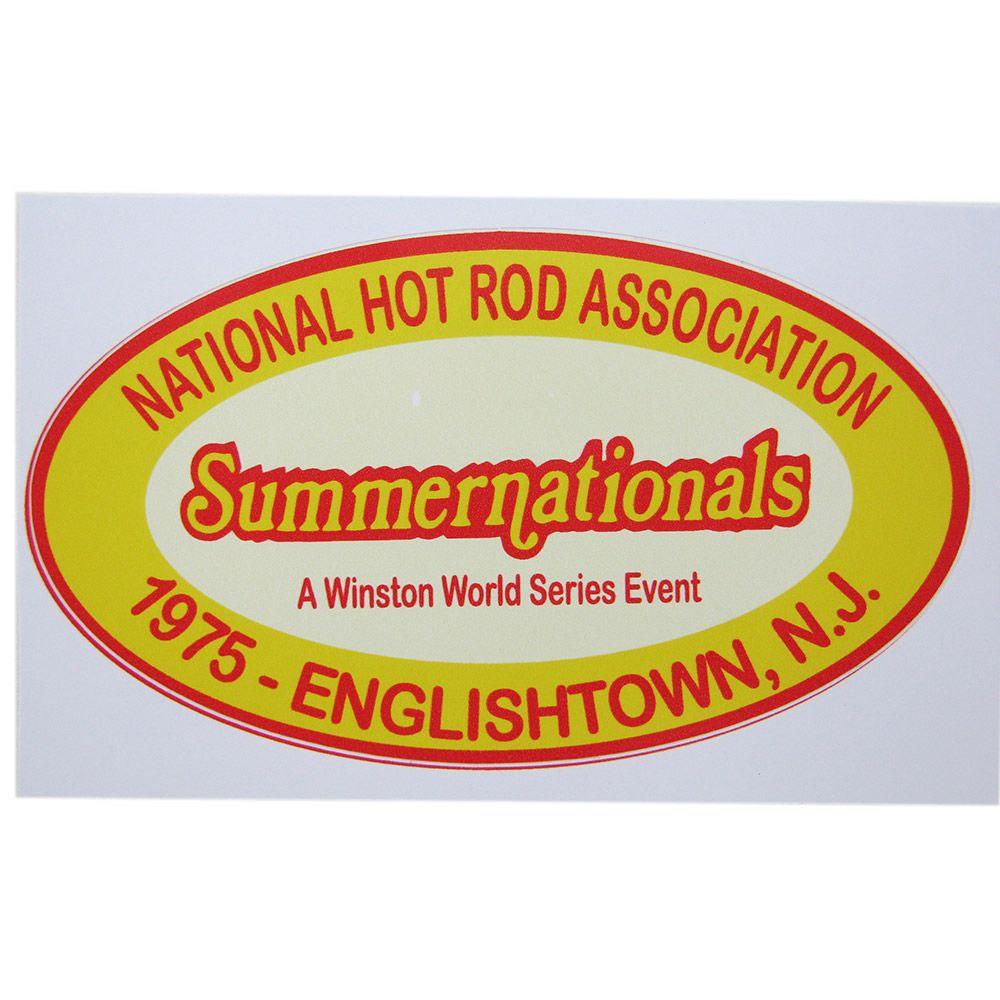 Adesivo modelo Summernationals Hot Rod Association  - Bunnitu Peças e Acessórios