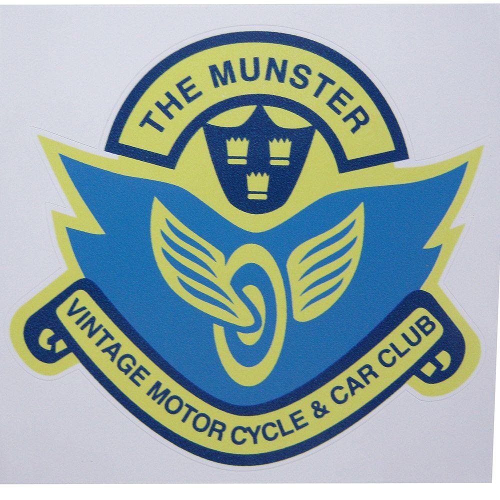 Adesivo modelo The Munter Vintage Motor Cycle & Car Club  - Bunnitu Peças e Acessórios