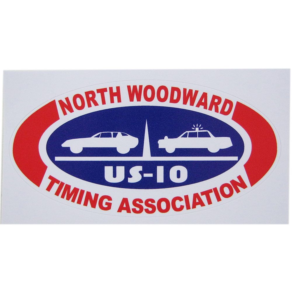 Adesivo modelo US-10 - North Woodward Timing Association  - Bunnitu Peças e Acessórios