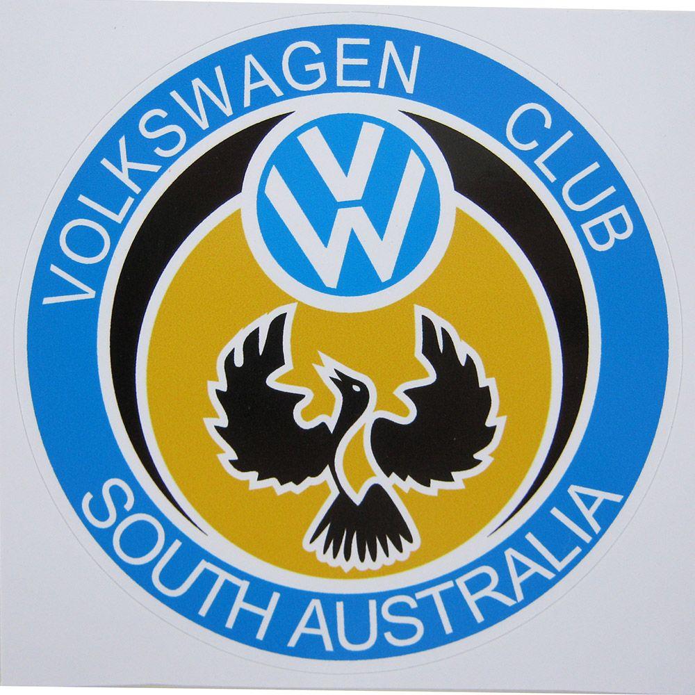 Adesivo modelo Volkswagen Club South Australia VW  - Bunnitu Peças e Acessórios