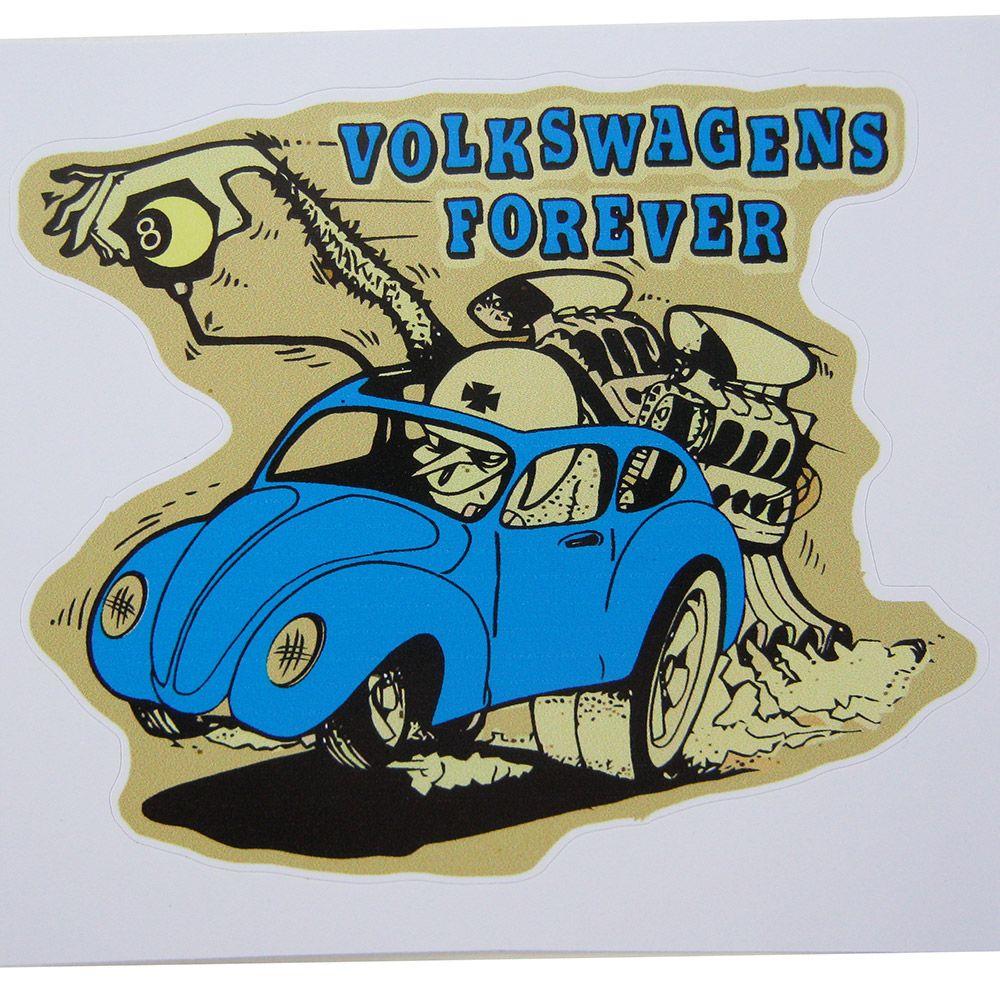 Adesivo modelo Volkswagens Forever azul  - Bunnitu Peças e Acessórios