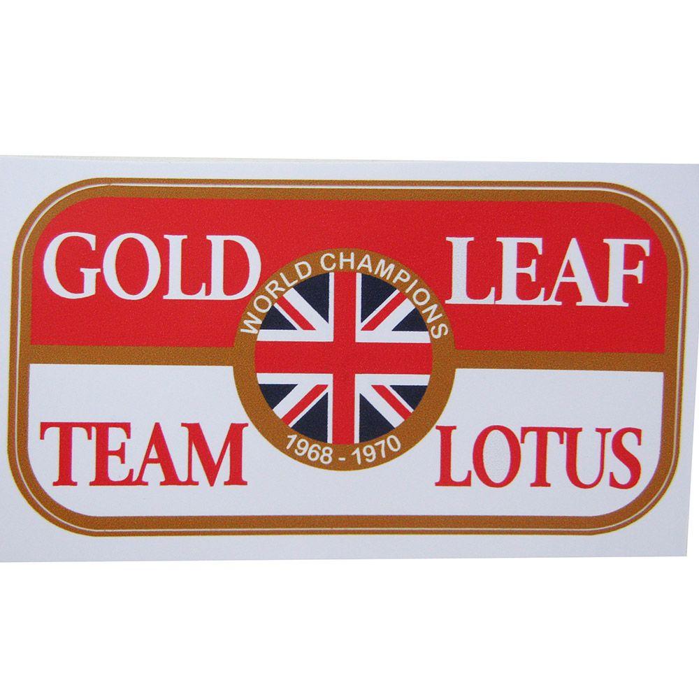 Adesivo modelo World Champions - Gold Leaf Team Lotus  - Bunnitu Peças e Acessórios