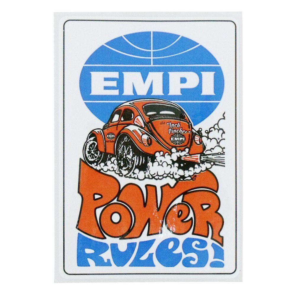 Adesivo original modelo retrô Empi Power Rules !  - Bunnitu Peças e Acessórios