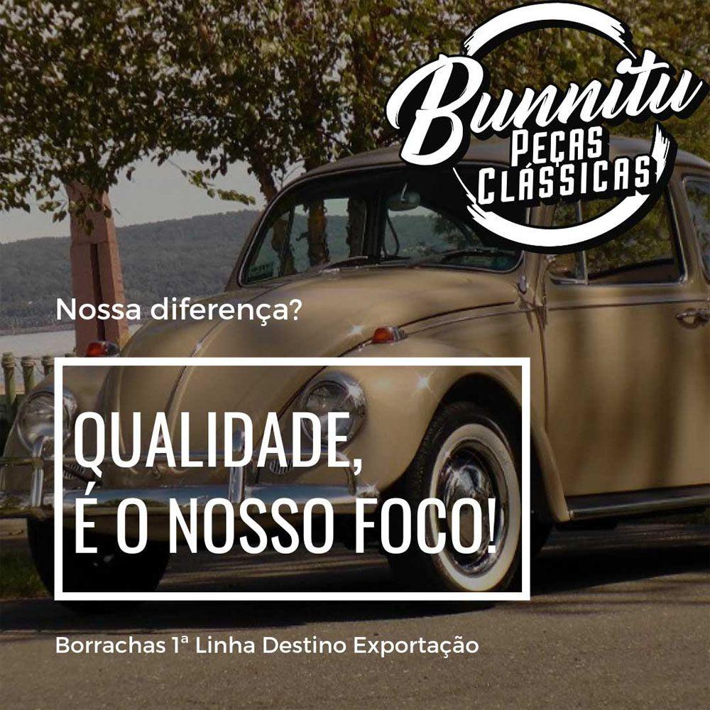Anél de borracha para dupla carburação VW Fusca, Variant, Brasília e TL  - Bunnitu Peças e Acessórios