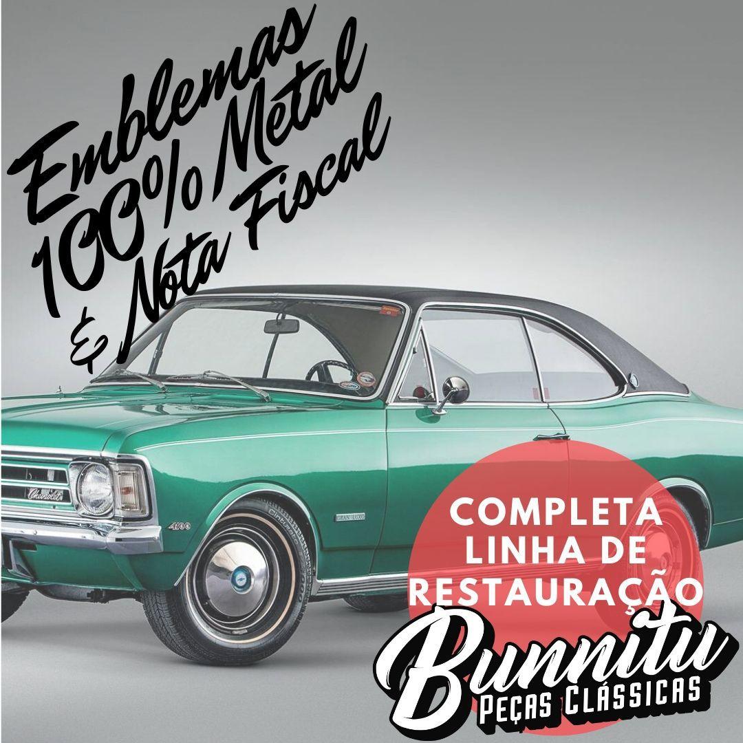 Aplique Revestimento Forração Lateral Porta GM Chevrolet Opala Jacarandá  - Bunnitu Peças e Acessórios