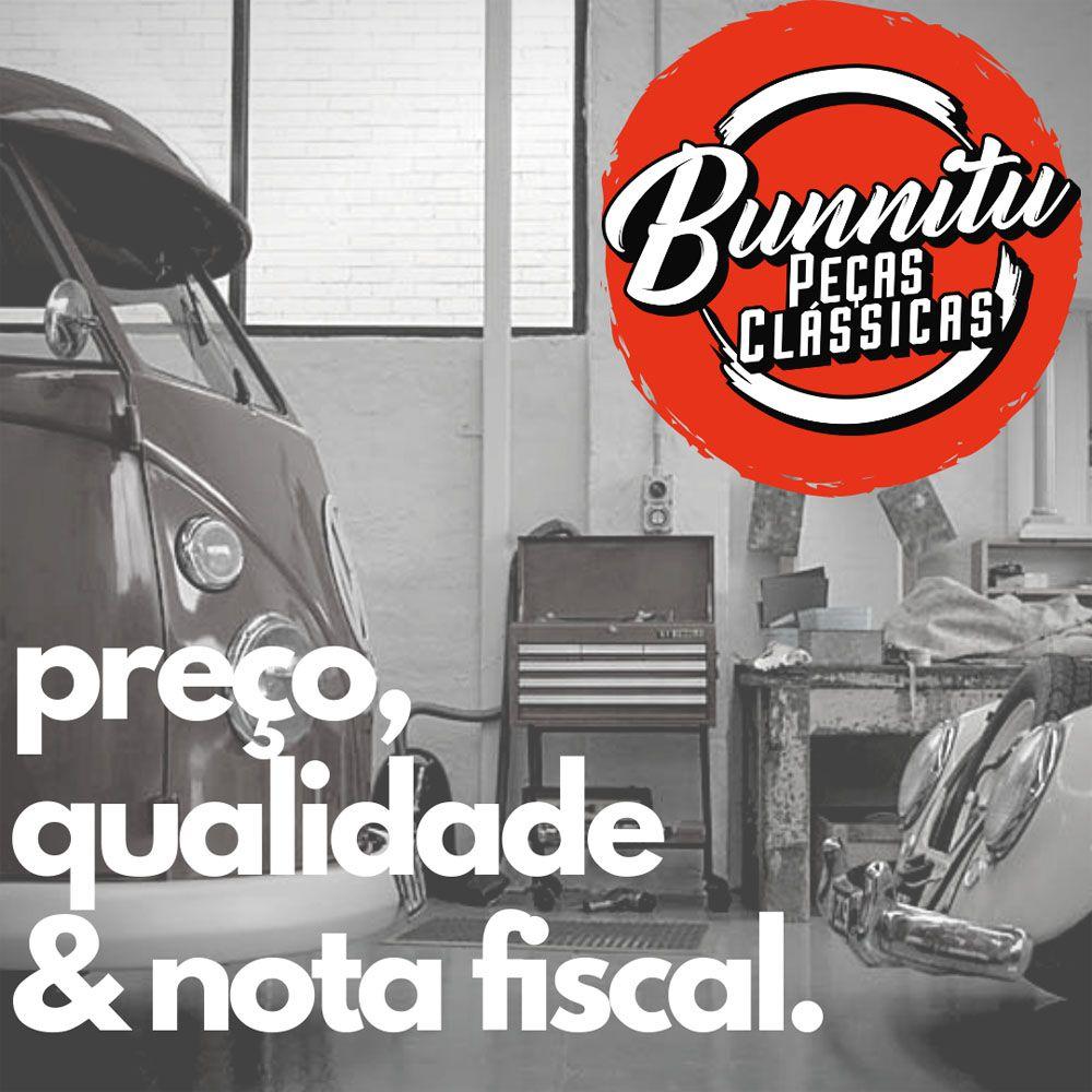 Aro do farol modelo 1 furo na cor preto fosco para VW Fusca Itamar e Kombi 1975 à 1986  - Bunnitu Peças e Acessórios