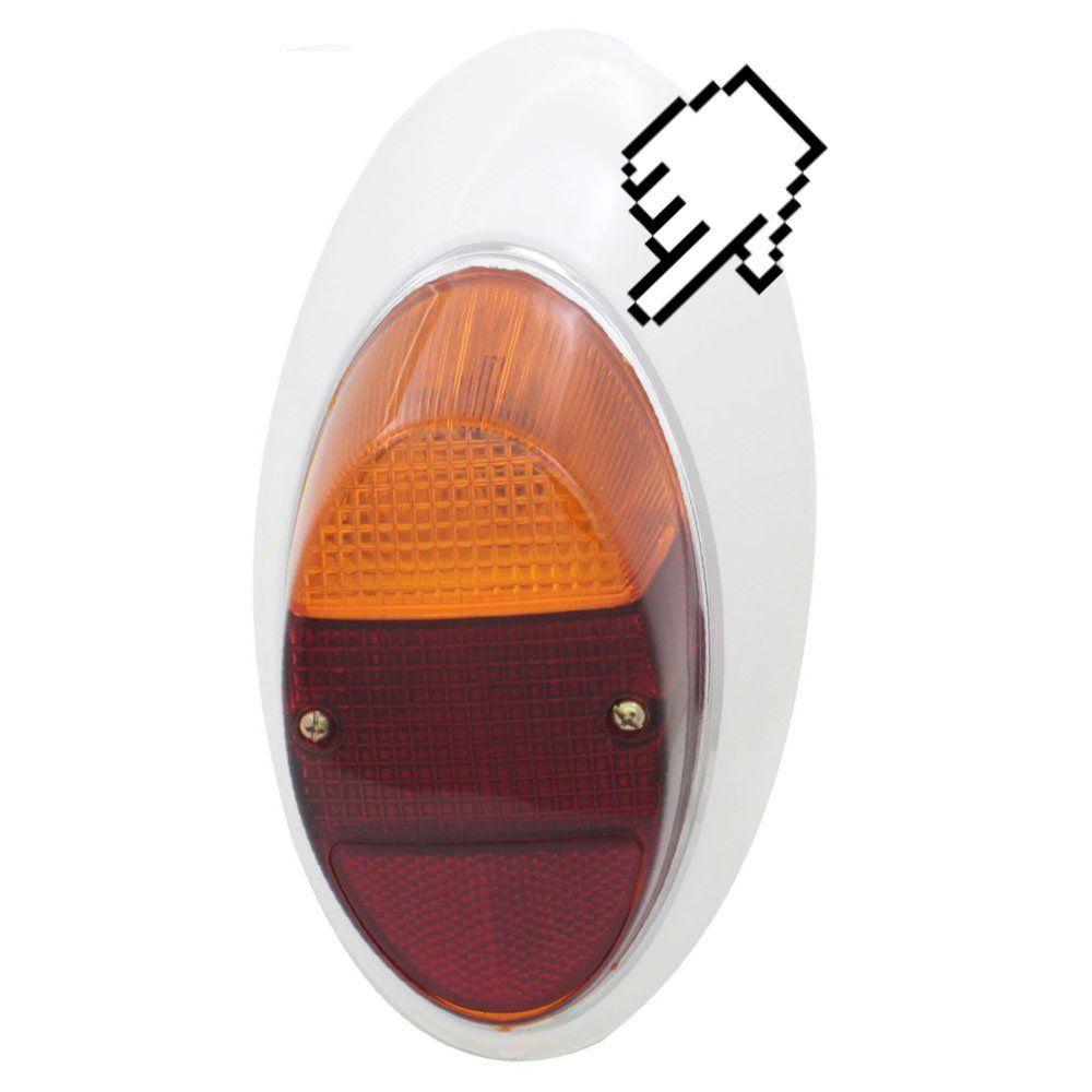 Aro em metal cromado com borracha para lanterna traseira do VW Fusca 1200, 1300  - Bunnitu Peças e Acessórios