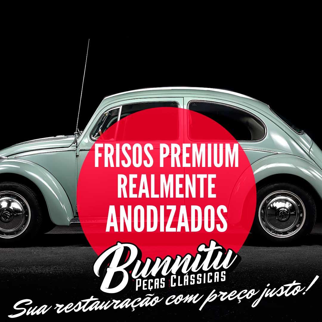 Arremate de friso do vidro para VW Fusca, Variant, Brasília, Tl, TC e Karmann Ghia  - Bunnitu Peças e Acessórios