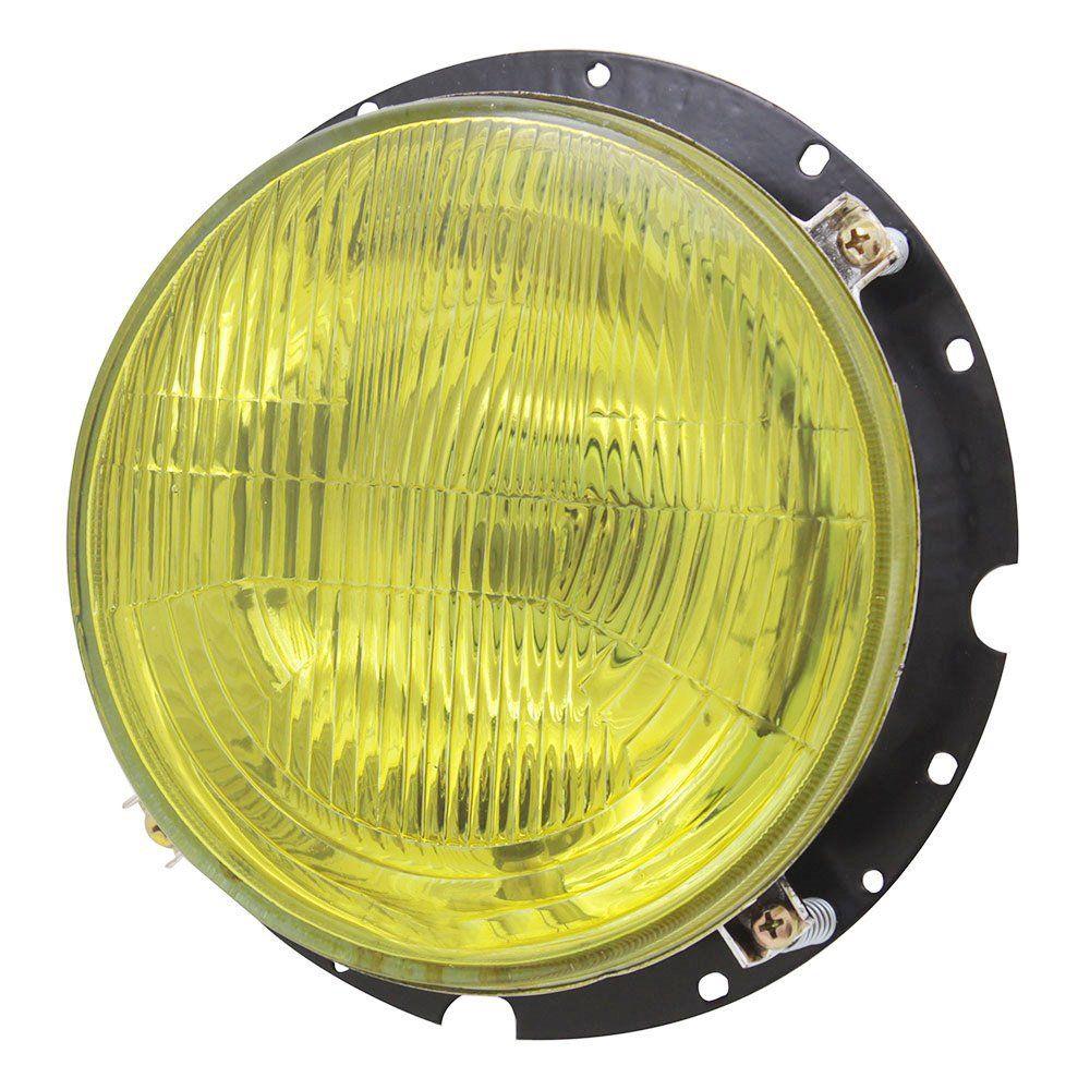 Bloco Óptico do farol com lente amarela para VW Fusca 1976 à 1996 e Kombi Clipper  - Bunnitu Peças e Acessórios