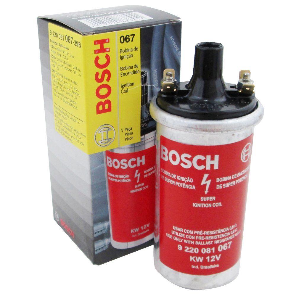 Bobina de ignição eletrônica Bosch para linha VW, GM, Ford, Fiat, e Alfa Romeu  - Bunnitu Peças e Acessórios