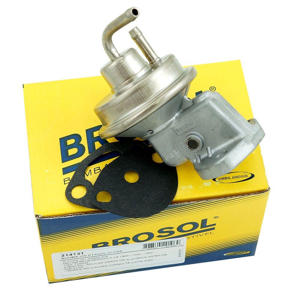 Bomba de combustível Brosol para VW Fusca, Kombi, Brasília, Variant, TL, TC, SP2, Karmann Ghia e Gol BX  - Bunnitu Peças e Acessórios