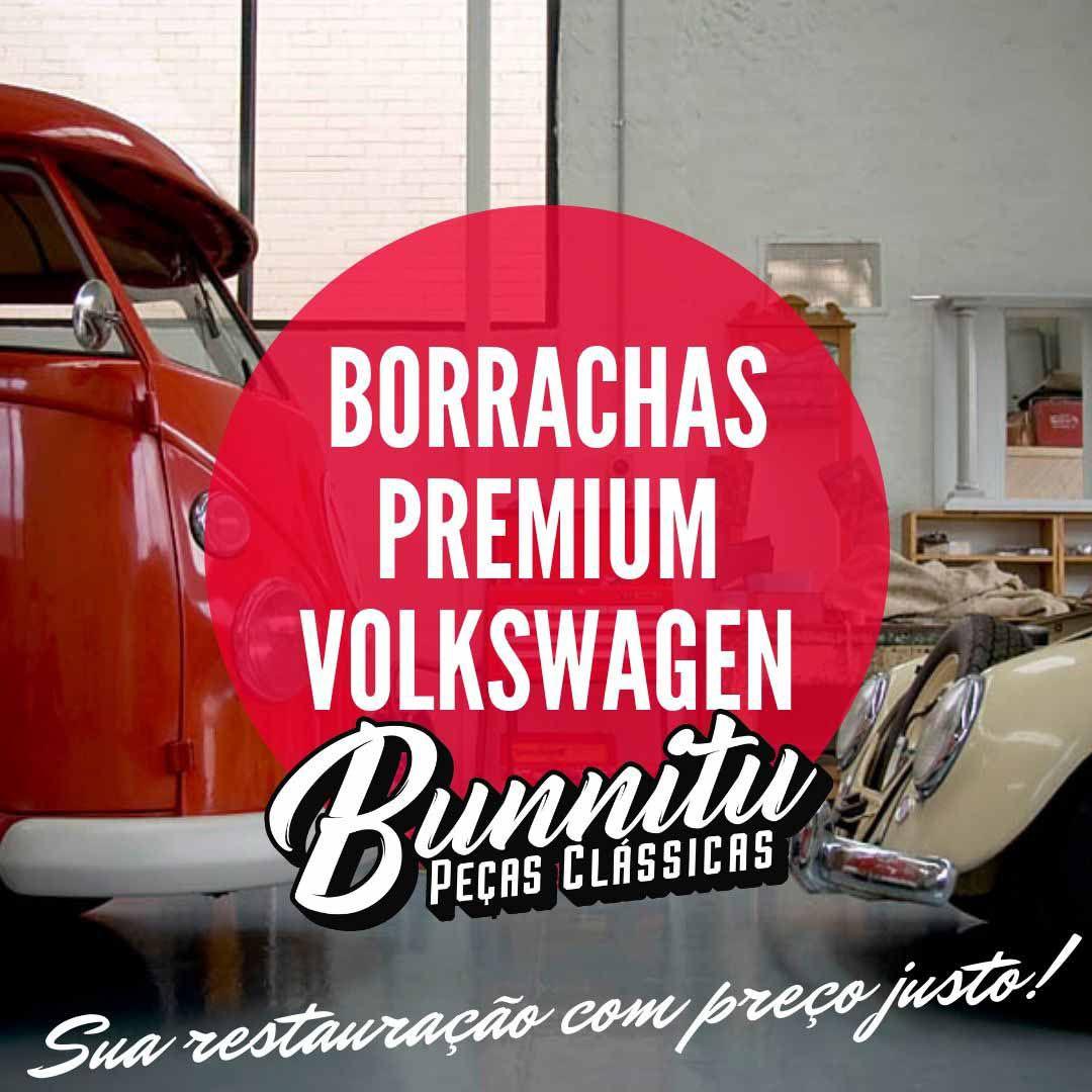Borracha de acabamento emblema do capo para VW Karmann Ghia  - Bunnitu Peças e Acessórios