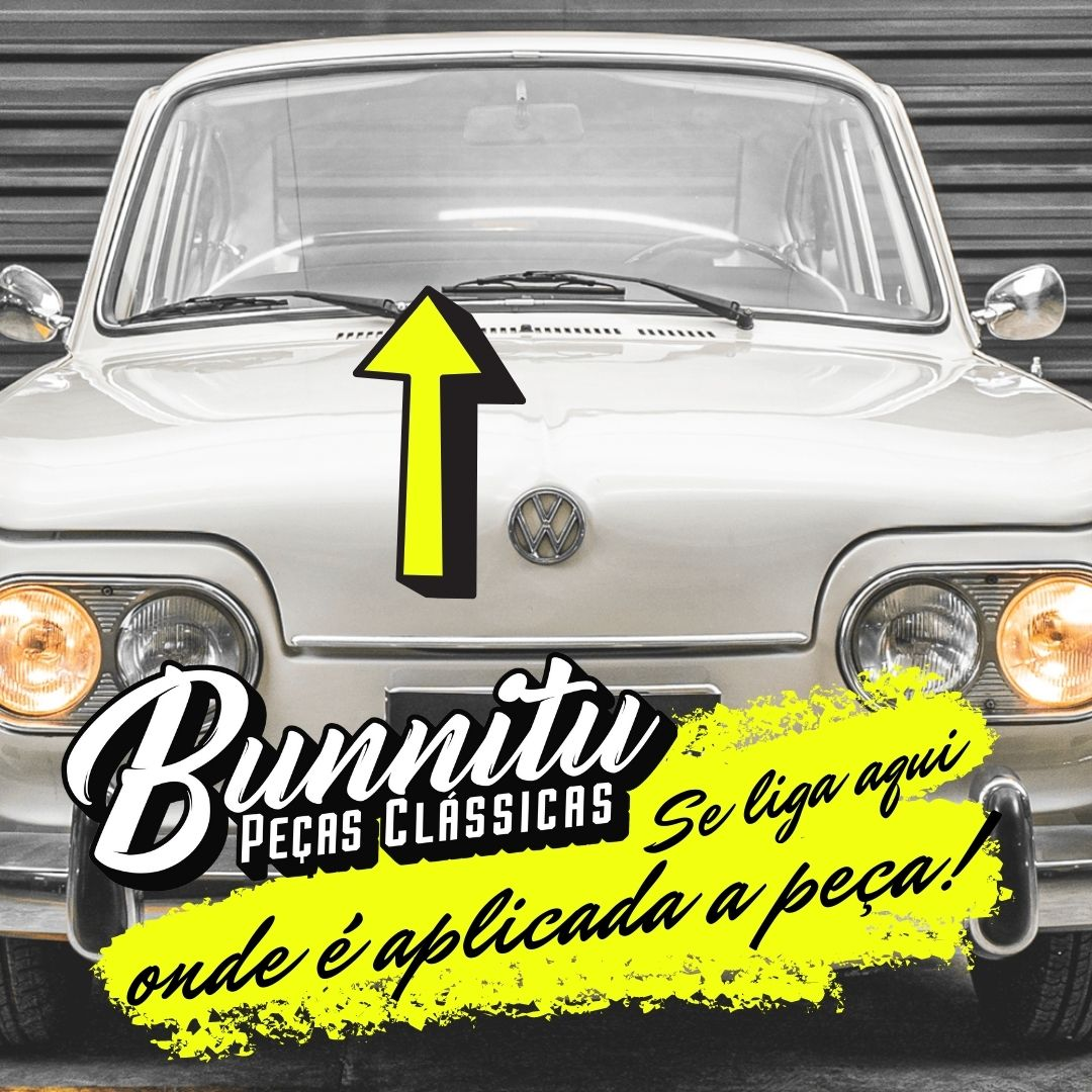 Borracha do vidro vigia para VW Variant 1 - Com encaixe para friso  - Bunnitu Peças e Acessórios