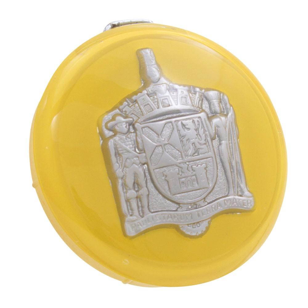 Botão de buzina na cor amarela para volante VW Fusca, Karmann Ghia, Variant, TL e TC  - Bunnitu Peças e Acessórios