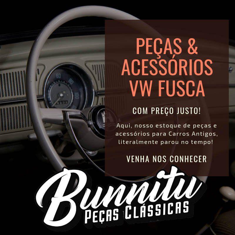 Cabo de abertura do capô dianteiro com botão cor marfim VW Fusca  - Bunnitu Peças e Acessórios