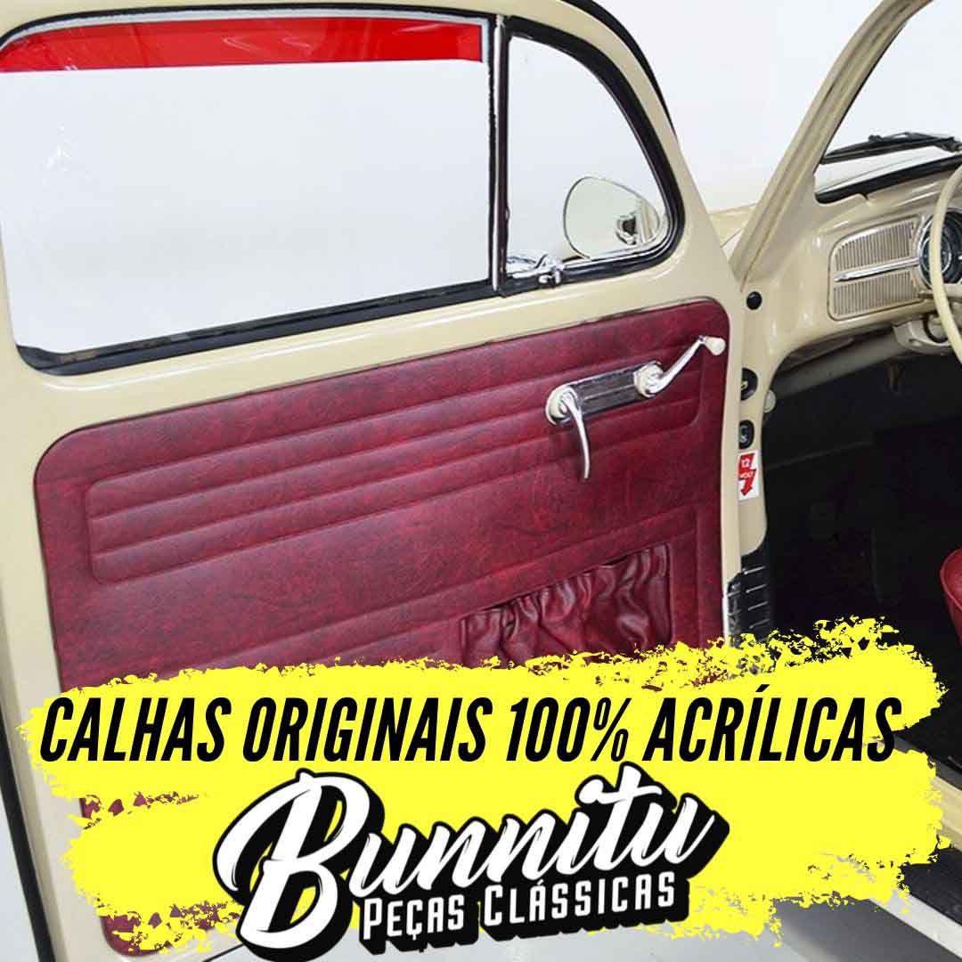 Calha de chuva acrílica fume para VW Brasília e Variant II  - Bunnitu Peças e Acessórios