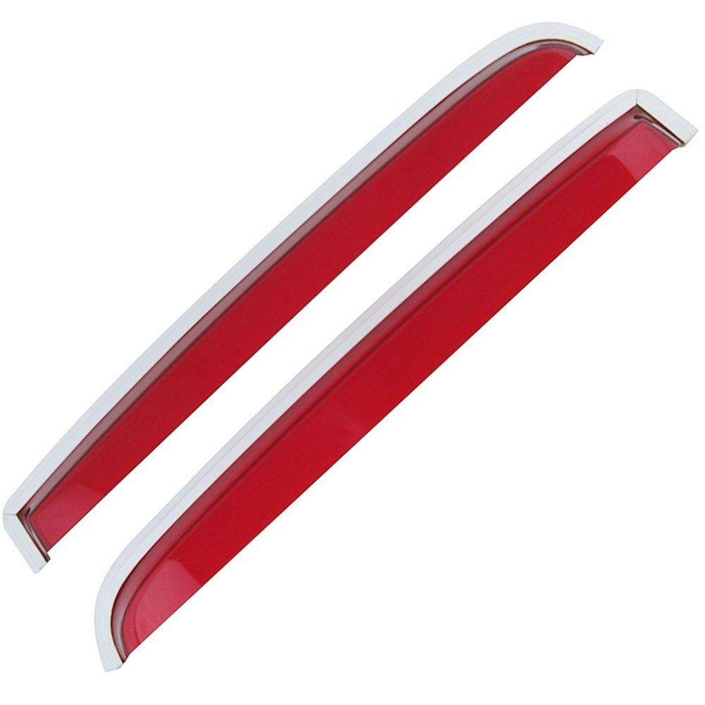 Calha de chuva acrílica vermelha para VW Fusca  - Bunnitu Peças e Acessórios