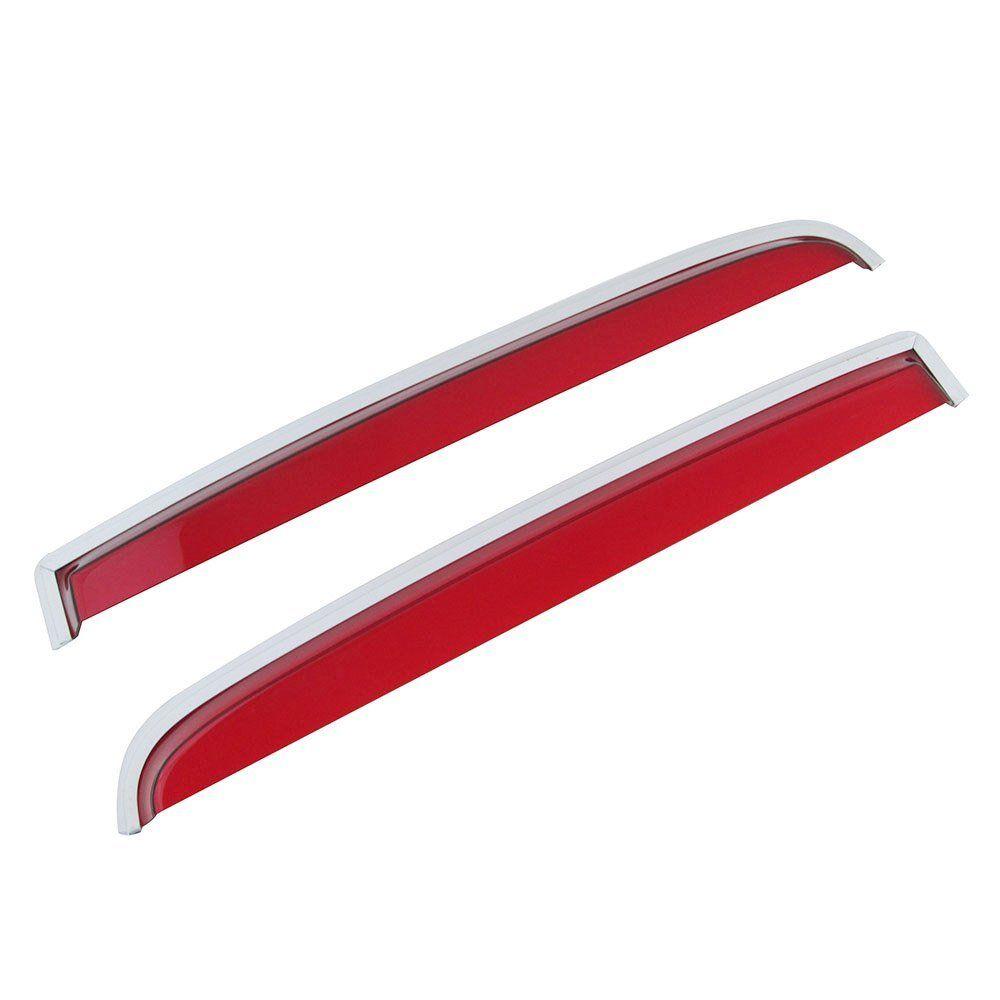 Calha de chuva acrílica vermelha para VW Variant até 1977  - Bunnitu Peças e Acessórios