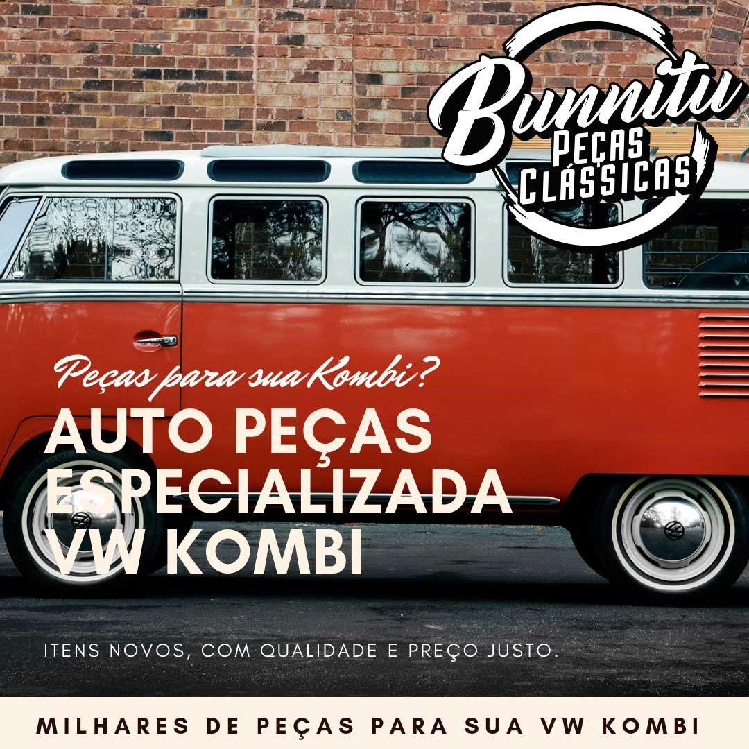 Calha de Chuva Inox Modelo Logo VW Kombi até 1975  - Bunnitu Peças e Acessórios