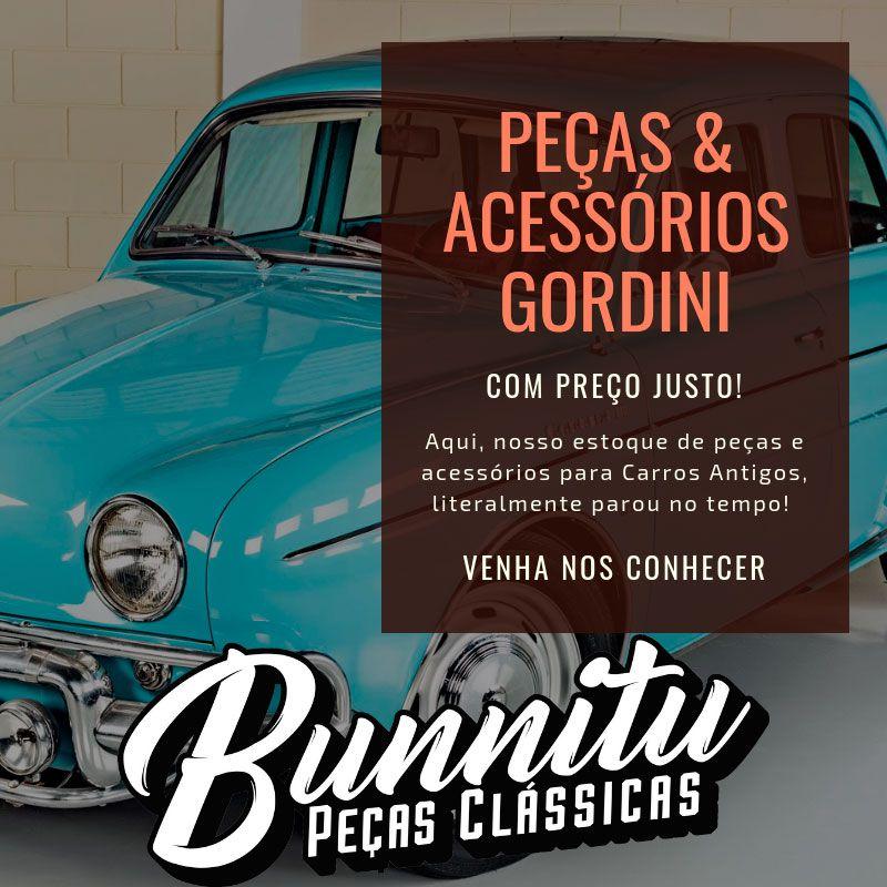 Calha de Chuva Janela Porta Dianteira Inox Renault Willys Dauphine e Gordini  - Bunnitu Peças e Acessórios