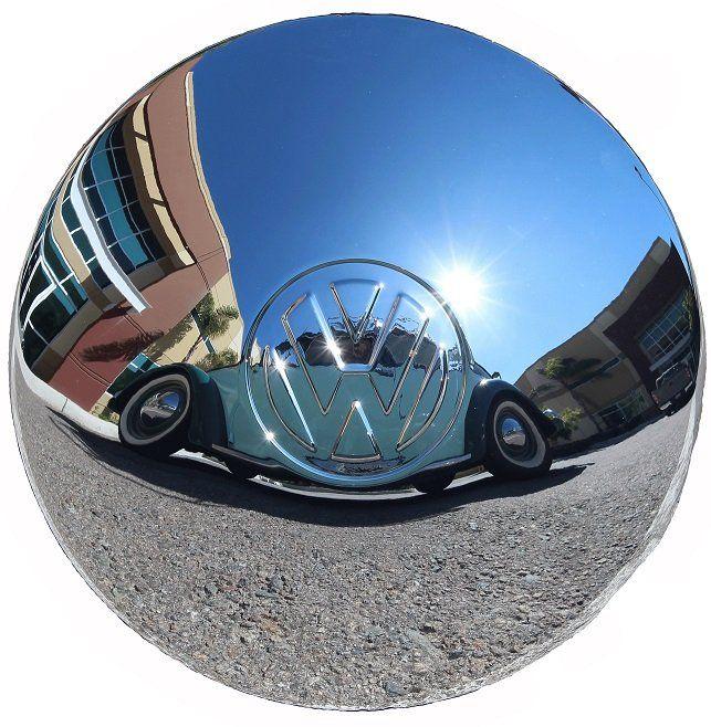Calota abaulada para VW Fusca, Variant, TL e Kombi, modelo para roda 4 furos   - Bunnitu Peças e Acessórios