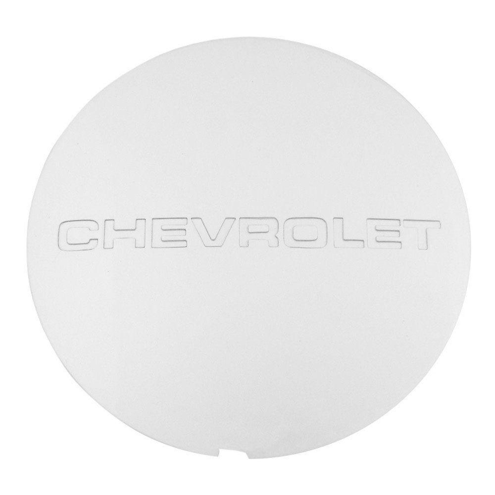 Calota de centro de roda com a descrição Chevrolet para GM Opala e Caravan 1988 à 1992  - Bunnitu Peças e Acessórios