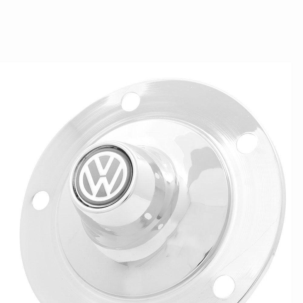 Calota modelo viagem para VW Fusca, Kombi e Karmann Ghia - Com logo Resinado  - Bunnitu Peças e Acessórios