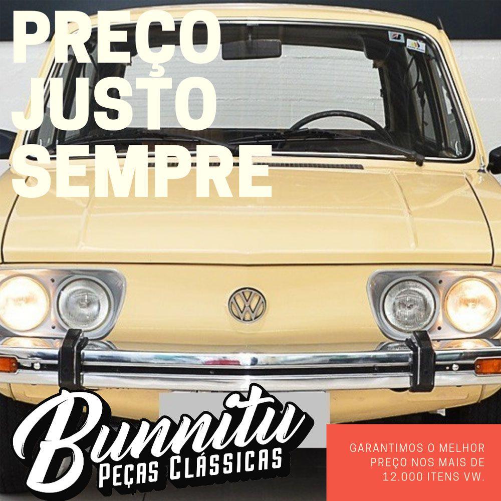 Capa da dobradiça da tampa do porta malas - Cor branco gelo para VW Brasília - Lado do Motorista  - Bunnitu Peças e Acessórios
